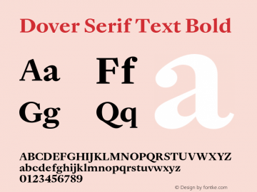 DoverSerifText-Bold Version 1.0 | wf-rip DC20180410图片样张