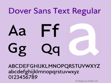 Dover Sans Text Regular Regular Version 1.000;PS 1.0;hotconv 1.0.72;makeotf.lib2.5.5900图片样张
