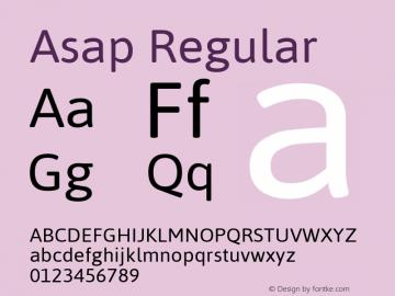 Asap Regular Version 1.001图片样张