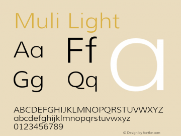 Muli Light Version 1.000图片样张