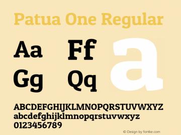 Patua One Regular Version 1.002图片样张