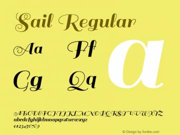 Sail Regular Version 1.002图片样张