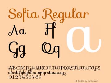 Sofia Regular Version 1.001图片样张