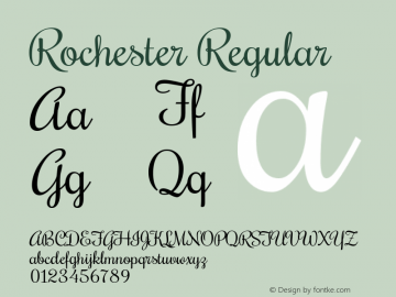 Rochester Regular Version 1.005图片样张