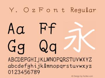 Y.OzFont Version 9.12图片样张