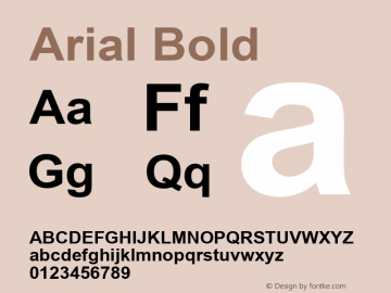 Arial Bold MS core font :V2.00图片样张