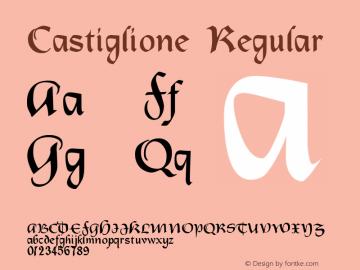 Castiglione Macromedia Fontographer 4.1.4 11/26/01图片样张