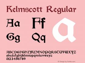Kelmscott Macromedia Fontographer 4.1.4 11/23/01图片样张