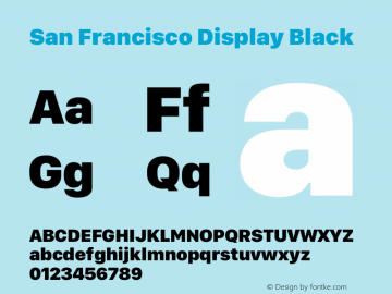 San Francisco Display Black Version 1.00;May 29, 2018;FontCreator 11.5.0.2427 64-bit图片样张