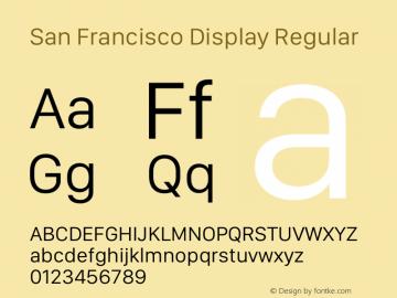 San Francisco Display Version 1.00;May 29, 2018;FontCreator 11.5.0.2427 64-bit图片样张