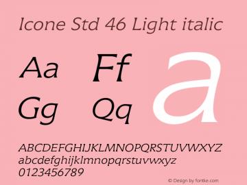 IconeStd-46Lightitalic Version 1.00图片样张