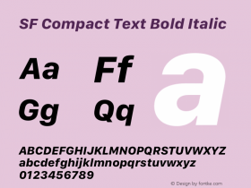 SF Compact Text Bold Italic 13.0d1e25图片样张
