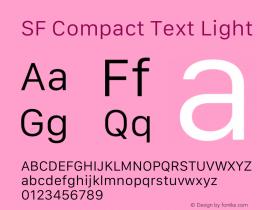 SF Compact Text Light 13.0d1e25图片样张