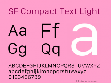 SF Compact Text Light 13.0d1e25图片样张