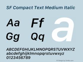 SF Compact Text Medium Italic 13.0d1e25图片样张