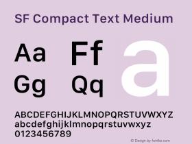 SF Compact Text Medium 13.0d1e25图片样张