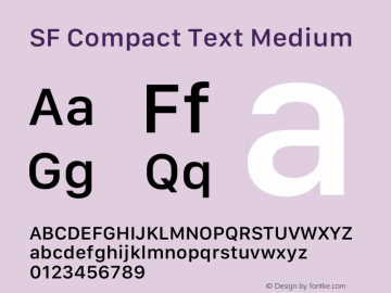SF Compact Text Medium 13.0d1e25图片样张