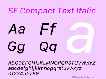 SF Compact Text Italic 13.0d1e25图片样张