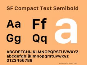 SF Compact Text Semibold 13.0d1e25图片样张