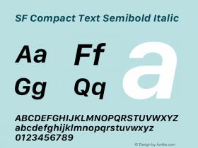 SF Compact Text Semibold Italic 13.0d1e25图片样张