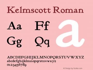 KelmscottRoman Version 1.000图片样张