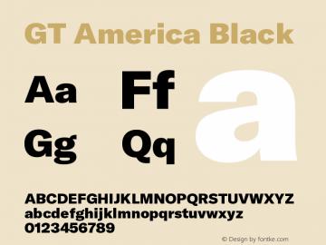 GT America Black Version 5.001;PS 005.001;hotconv 1.0.88;makeotf.lib2.5.64775图片样张