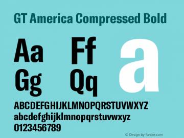 GT America Compressed Bold Version 5.001;PS 005.001;hotconv 1.0.88;makeotf.lib2.5.64775图片样张