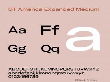 GT America Expanded Medium Version 5.001;PS 005.001;hotconv 1.0.88;makeotf.lib2.5.64775图片样张