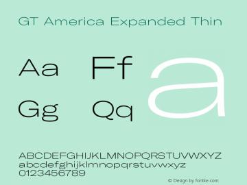 GT America Expanded Thin Version 5.001;PS 005.001;hotconv 1.0.88;makeotf.lib2.5.64775图片样张