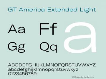 GT America Extended Light Version 5.001;PS 005.001;hotconv 1.0.88;makeotf.lib2.5.64775图片样张