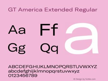 GT America Extended Regular Version 5.001;PS 005.001;hotconv 1.0.88;makeotf.lib2.5.64775图片样张