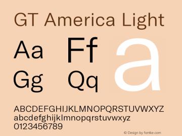 GT America Light Version 5.001;PS 005.001;hotconv 1.0.88;makeotf.lib2.5.64775图片样张
