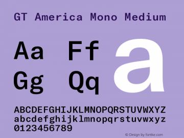 GT America Mono Medium Version 2.001;PS 002.001;hotconv 1.0.88;makeotf.lib2.5.64775图片样张