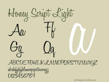 Honey Script Light Version 001.007图片样张
