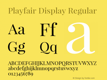 Playfair Display Regular Version 1.002;PS 001.002;hotconv 1.0.70;makeotf.lib2.5.58329; ttfautohint (v0.93) -l 42 -r 42 -G 200 -x 14 -w