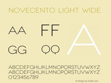 Novecento-LightWide Version 1.100;PS 001.001;hotconv 1.0.56;makeotf.lib2.0.21325图片样张