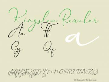 Kingsley Version 1.00;June 26, 2018;FontCreator 11.5.0.2422 64-bit图片样张