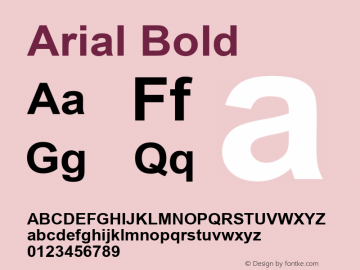 Arial Bold Version 5.22图片样张