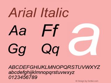 Arial Italic Version 5.22图片样张