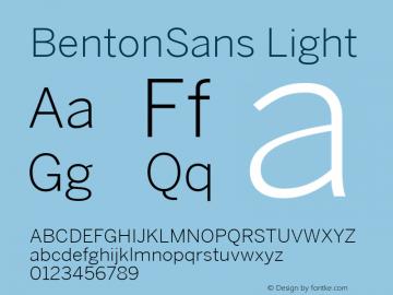BentonSans-Light 001.000图片样张