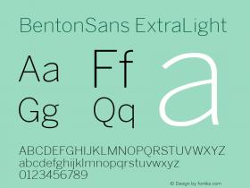 BentonSans-ExtraLight 001.000图片样张