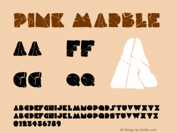 Pink Marble Version 1.000;PS 001.000;hotconv 1.0.88;makeotf.lib2.5.64775图片样张