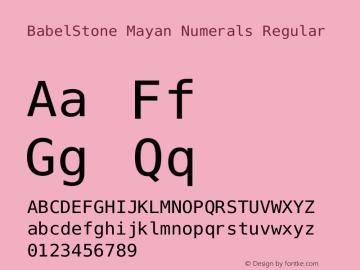 BabelStone Mayan Numerals Version 11.000 June 09, 2018图片样张
