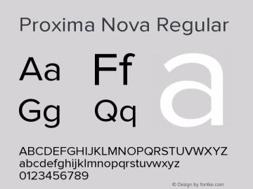 ProximaNova-Regular Version 1.101;PS 001.001;hotconv 1.0.38图片样张