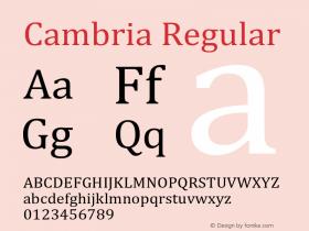 Cambria Version 5.97图片样张