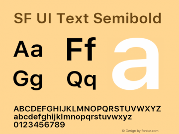 SF UI Text Semibold 11.0d45e1--BETA图片样张