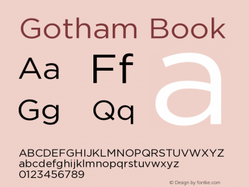 Gotham-Book Version 2.200 Pro图片样张