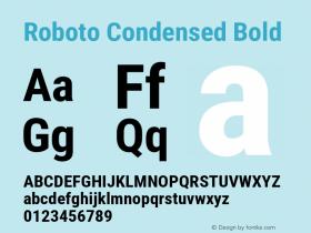 Roboto Condensed Bold Version 2.137; 2017图片样张