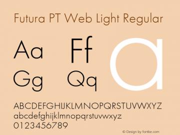 Futura PT Web Light Version 1.001W图片样张