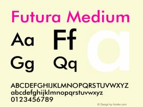 FuturaBT-Medium 2.0-1.0图片样张